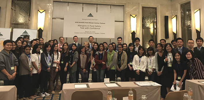 Allergen Bureau well received at Romer Labs food allergen seminar in Bangkok, Thailand