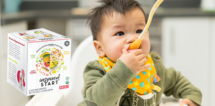 Products designed to help introduce allergens in infancy