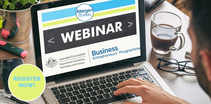 Free Allergen Bureau webinar – 'Identification, Control and Management' – Thursday 19 April 2018 – Register now!
