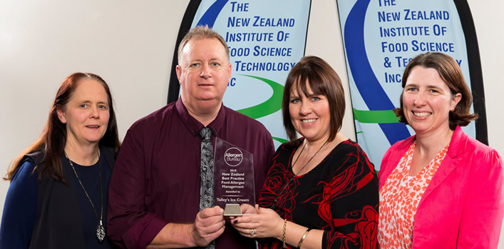 Talley's Ice Cream inaugural winner of Allergen Bureau Award, New Zealand