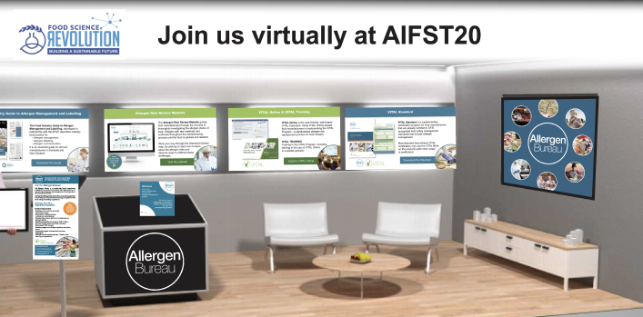 Visit the Allergen Bureau booth at the 2020 AIFST Virtual Exhibition