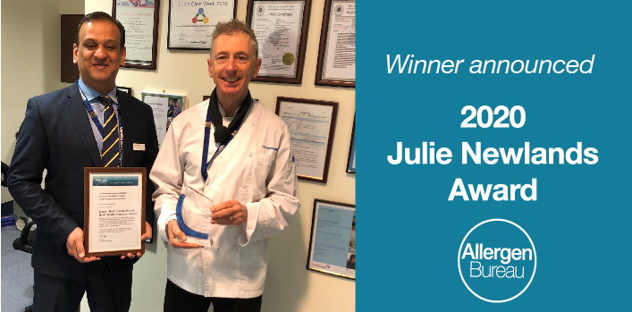 Monash Health and the Monash Health Central Production Kitchen wins 2020 Julie Newlands Award